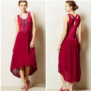 Anthropologie Tulipan Pink Tank Dress NWT